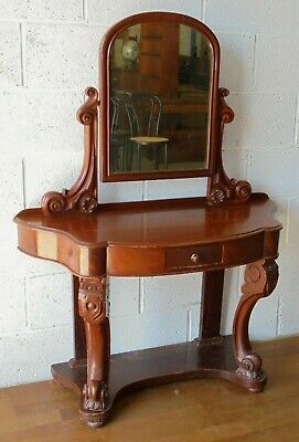 £100 • Buy Antique Mahogany Small Duchess Princess Dressing Table With Mirror