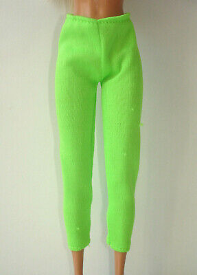£7.75 • Buy Barbie Doll Vintage Clothes - Neon Green Colour Soft Material Leggings Trousers