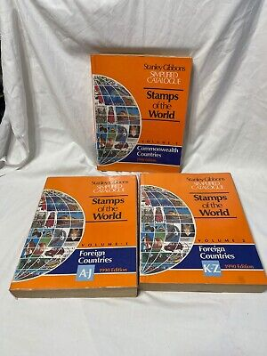 £19.99 • Buy Vol 1, 2 & 3 Stanley Gibbons Simplified Catalogue Stamps Of The World 1990 Edt