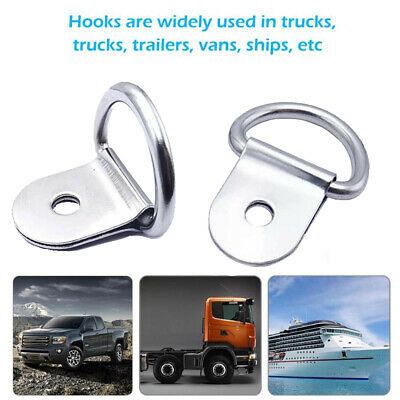 AU19.68 • Buy 30PS Heavy Duty D-Ring Tie Down Stainless Steel Anchor Point Silver Universal AU