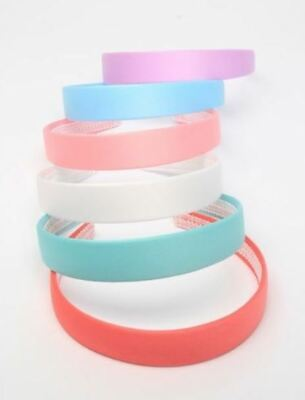 £2.89 • Buy Girls Childrens 2.5cm Wide Hair Band Alice Band Pastel Colours Lilac Pink Blue