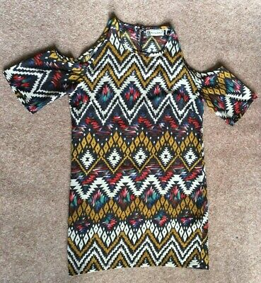 £3.50 • Buy Hearts And Bows Patterned Summer Tunic Top For Women Size 8