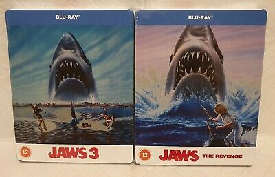 £60 • Buy JAWS 3, JAWS 4,Blu-Ray Zavvi UK Exclusive Limited Edition Steelbook New & Sealed
