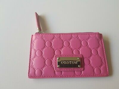 AU59 • Buy Oroton Pink Leather Embossed Card Holder - New -auth
