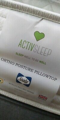 £299 • Buy New Sealy Activsleep Ortho Posture Pillowtop 4ft (120cm) Small Double Mattress