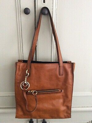 £18 • Buy Brown/Tan Leather Bag With (detachable) Purse. Light Use. Clean. M&S