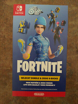 $299.99 • Buy Nintendo Switch Fortnite Wildcat And 2000 V-Bucks Card Only USA Code Mailed