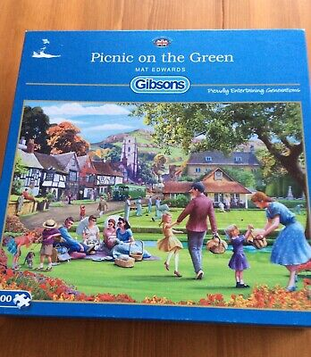 £5.99 • Buy Gibson 1000 Piece Jigsaw Puzzles - Mat Edwards - Picnic On The Green