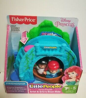 £19 • Buy Fisher Price Little People Figures Disney Princess Ariel And Eric's Boat Ride