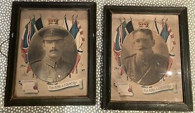 £90 • Buy UK Only - Original WW1 Large Framed Photos Of Amey Brothers