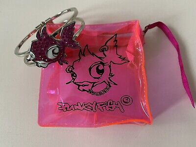 £4 • Buy Funky Fish Bangle In Transparent Pink Plastic Zip Bag With Ribbon