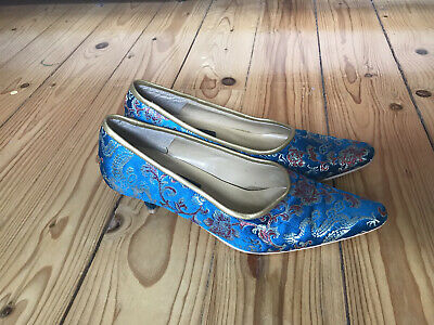 £4.50 • Buy Chinese Silk Ladies Shoes (Size 4) Blue