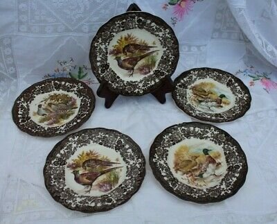 £5 • Buy Royal Worcester Palissy Game Series, 5 X 7  Side Plates.