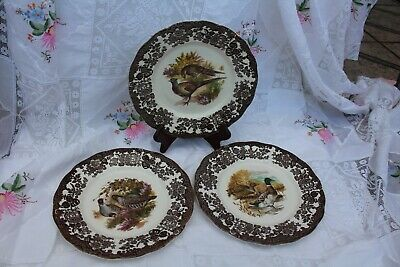 £5 • Buy Royal Worcester Palissy Game Series, 3 X 10  Dinner Plates.
