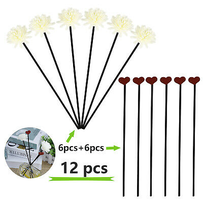 AU14.07 • Buy 12pcs Essential Oil Aroma Diffuser Stick Dried Flower Rattan Reed Home Decor
