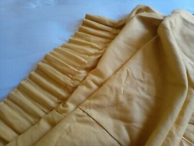 £30 • Buy 1 Pair Of Curtains Gold/Yellow Size W 74  X D 106