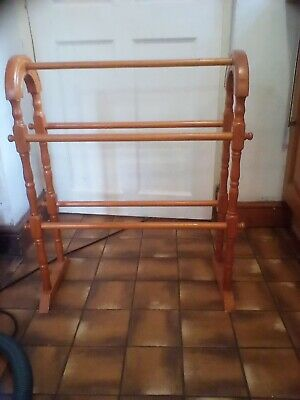 £8 • Buy A Pine Freestanding Towel Rail In Victorian  Style