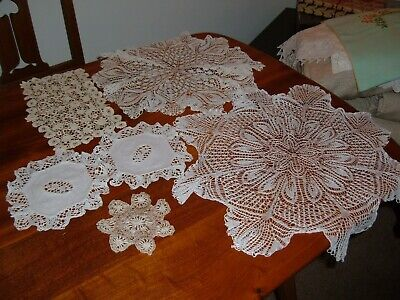 £2 • Buy 6 Vintage/Antique Lace Doilies/Dressing Table Mats In Good Condition