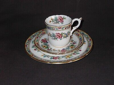 £5.99 • Buy Coalport Vintage Ming Rose Trio, Cup Saucer And Plate