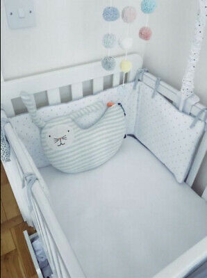 £100 • Buy Mamas & Papas White Cot From Birth Until Approx Age 2 - With Mattress