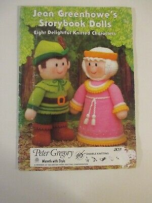 £4.99 • Buy Jean Greenhowe's ~ Story Book Dolls  ~ 8 Knitted Characters