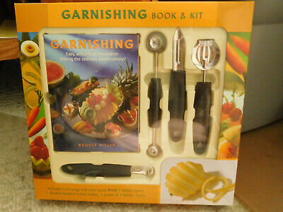 £5.86 • Buy Garnishing Kit And Book Includes Four (4) Garnishing Tools By Rudolf Biller