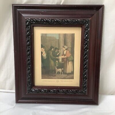 £5.95 • Buy Vintage Cries Of London Framed Print A New Love Song Only Hapenny A Piece VGC