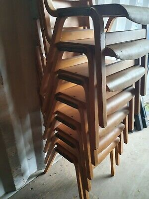 £50 • Buy Vintage Hillcrest School Chairs Stackable