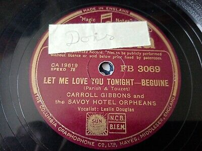 £5 • Buy Carroll Gibbons & The Savoy Hotel Orpheans - Let Me Love You Tonight / Shine On