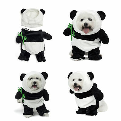 £12.99 • Buy Pet Dog Cat Panda Jumpsuit Two Piece Halloween Christmas Costume Hoods Outfit