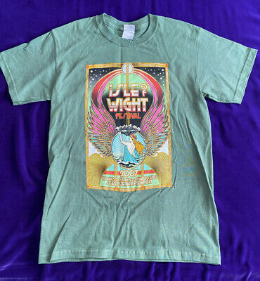 £9.95 • Buy Isle Of Wight Festival 2007 Official Green Poster Line-Up T-Shirt Vintage Small