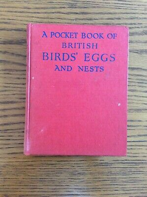 £4.75 • Buy A Pocket Book Of British Birds Eggs And Nests By C A Hall Colour Red