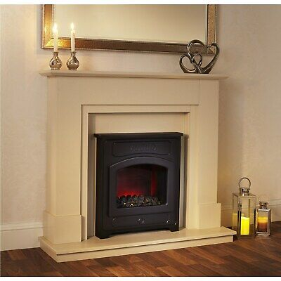£615.53 • Buy Traditional Style Electric Fireplace Suite In Sandstone With Stove Effect Insert