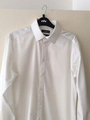 £3.49 • Buy John Lewis Mens Shirt Superb Condition 15.5 Collar Tailored Fit Double Cuffs