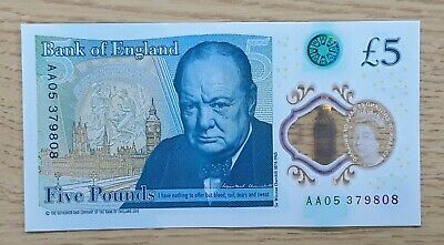 £10.50 • Buy Polymer £5 Five Pound Note Aa05