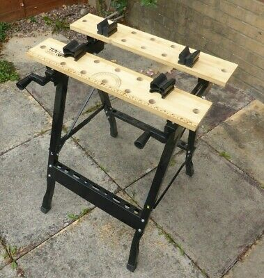 £10 • Buy Folding Workbench Workmate Work Bench With Clamping Vice: Used, Good Condition