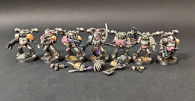 £39.02 • Buy Warhammer 40k Chaos Space Marines Plague Marines #3 Set - Well Painted Finecast