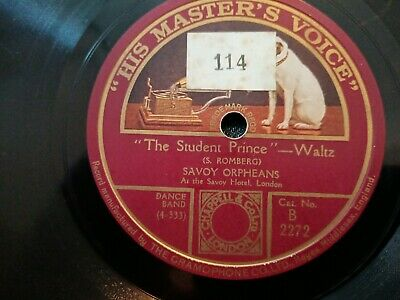 £6 • Buy Savoy Orpheans - The Student Prince / Valencia - 78 Rpm