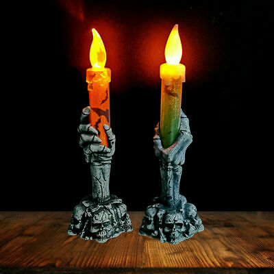 £4.99 • Buy Halloween Skeleton Hand Led Lamp Candle Flame Light Stand Lamp Party Decoration