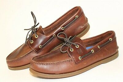 £4.02 • Buy Sperry Top-Sider 0195214 Authentic Original Mens 14 M Brown Leather Boat Shoes