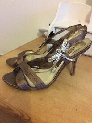 £3.50 • Buy Next Sole Reviver Strappy Sandals Brown With Dragonfly Side Clips Size 4