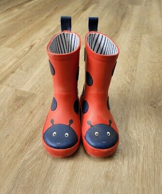 £4.70 • Buy Baby Boden Red Ladybird Wellies, Size 5 Infant / 22