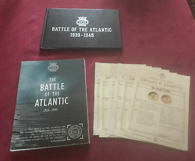 £275 • Buy Battle Of Atlantic Complete 6 24ct Gold & 999 Silver Coin Set + Booklet & Coa's