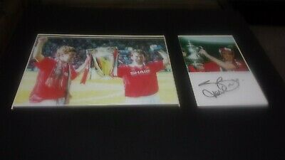 £9.99 • Buy Steve Bruce Manchester United Signed Mounted Picture 14x11 Inches