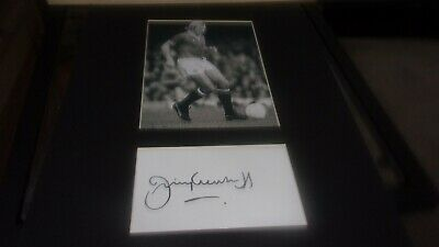 £9.99 • Buy Jimmy Greenhoff Manchester United Signed Mounted Picture 14x11 Inches