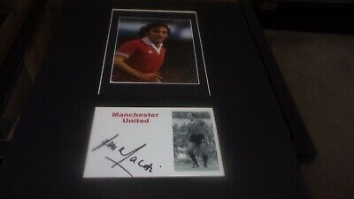 £9.99 • Buy Lou Macari  Manchester United Signed Mounted Picture 14x11 Inches