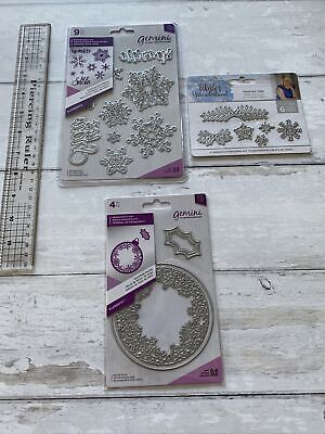 £9.99 • Buy Crafters Companion Metal Die Sets, Christmas X 3. Snowflakes. Bauble And Holly