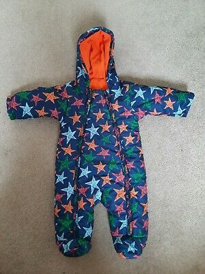 £5 • Buy M&S 0-3 Months Boys Blue Star Pramsuit Snowsuit All In One