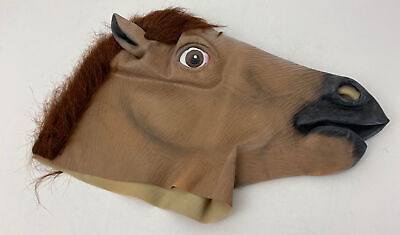 £6.99 • Buy Rubber Horse Head Mask Fancy Dress Party Halloween Adult Costume