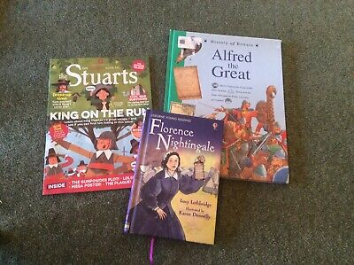 £6 • Buy Bundle Of 2 Children's Books. Alfred The Great. Florence Nightingale.